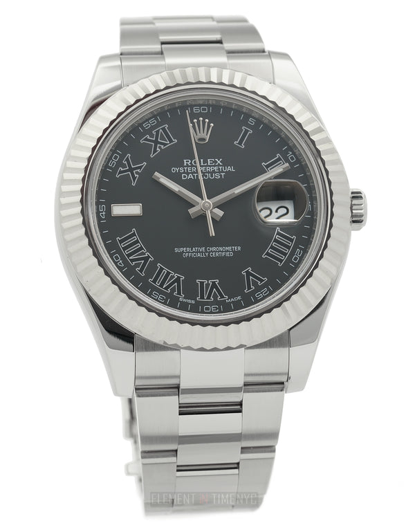 Stainless Steel Grey Dial 41mm