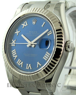 Stainless Steel Blue Dial 41mm