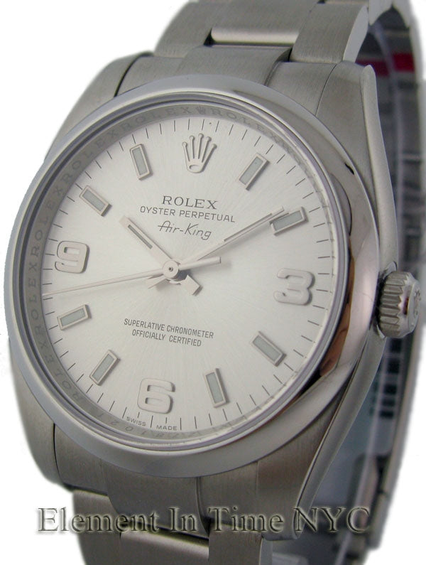 Stainless Steel Silver Dial 34mm