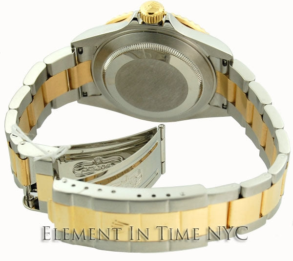 Steel & Gold Champagne Serti Dial
