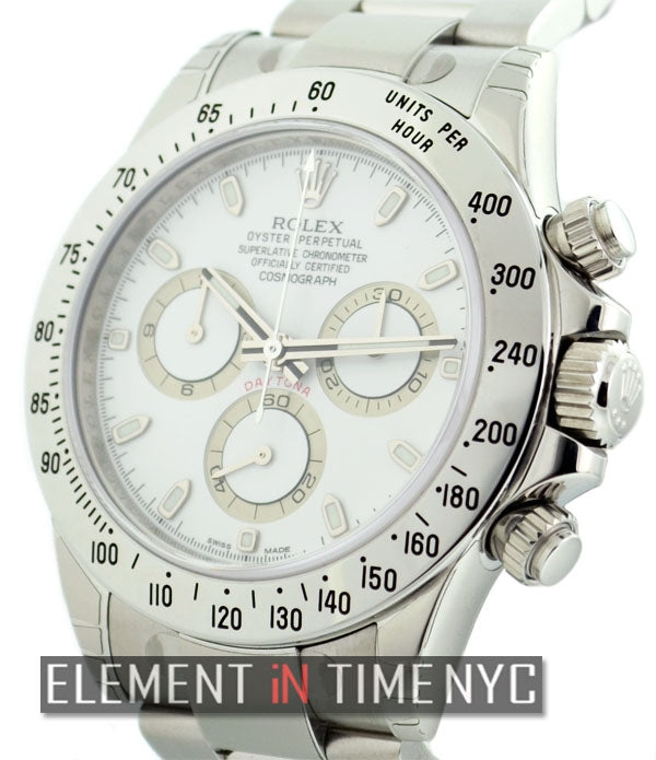 Stainless Steel White Dial