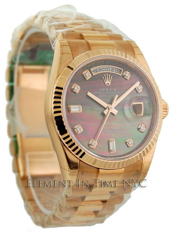 President Tahitian Mother Of Pearl Diamond Dial