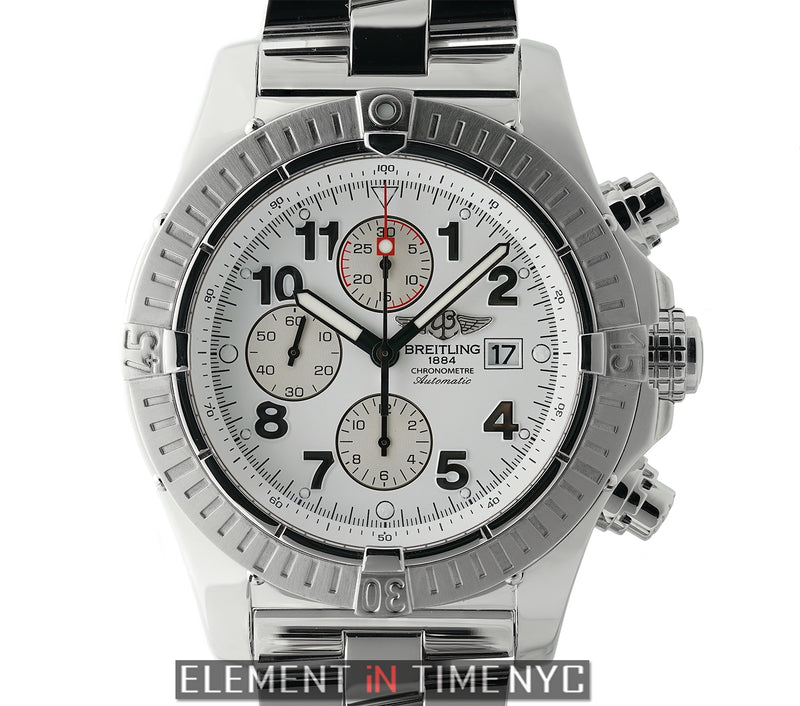 Chronograph Steel 48mm White Dial 2007