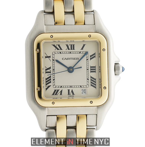 Panthere Large 27mm Steel & 18k Yellow Gold Quartz