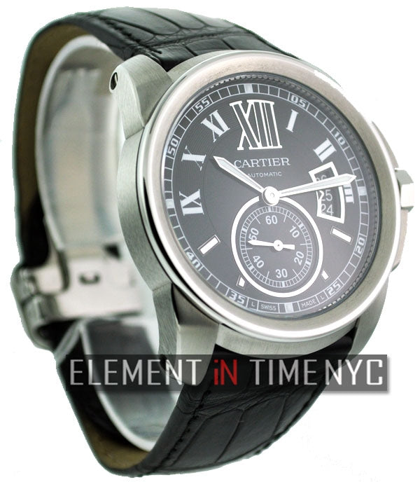 Stainless Steel Black Dial 42mm