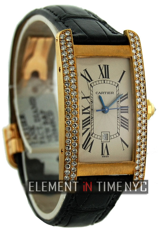 Tank Americaine 18k YG Diamond Case Midsize 23mm