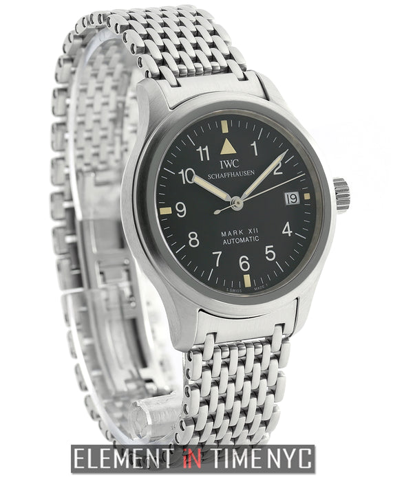 Mark XII Vintage Stainless Steel Black Dial On Bracelet