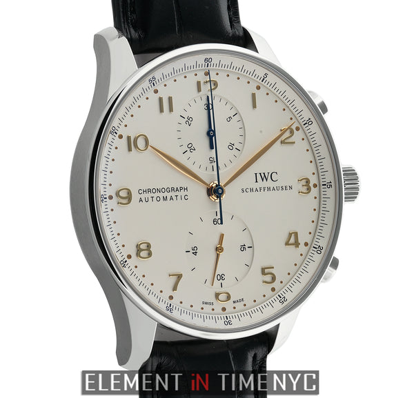 Chronograph Stainless Steel Silver Arabic Dial