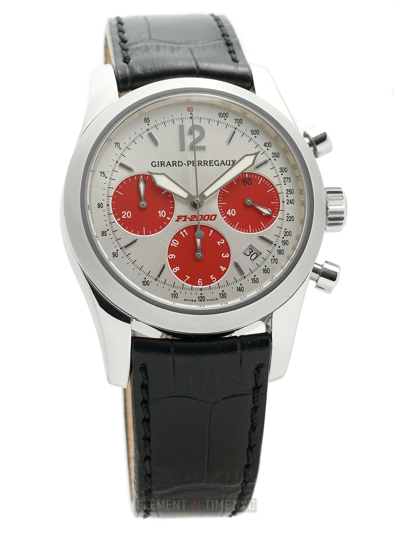 F1-2000 Chronograph 40mm Stainless Steel Silver Dial