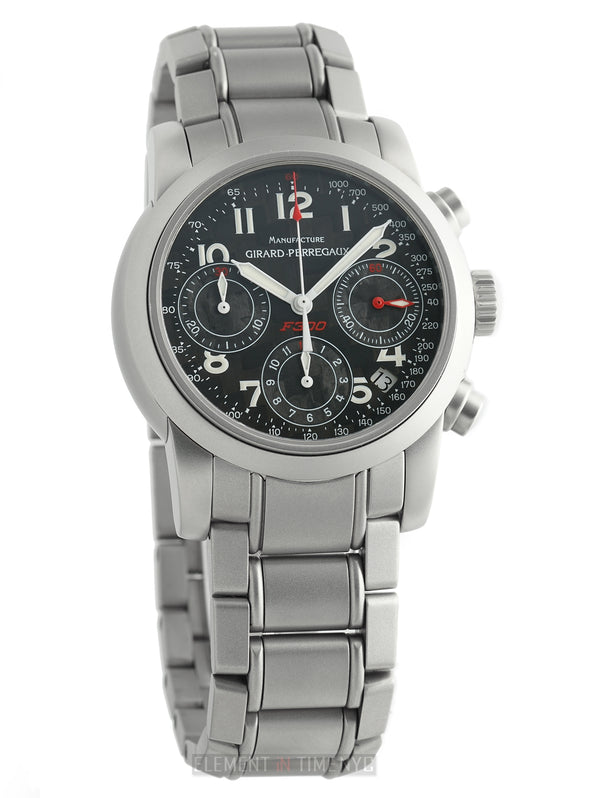 F300 Chronograph Stainless Steel 40mm Carbon Fiber Dial