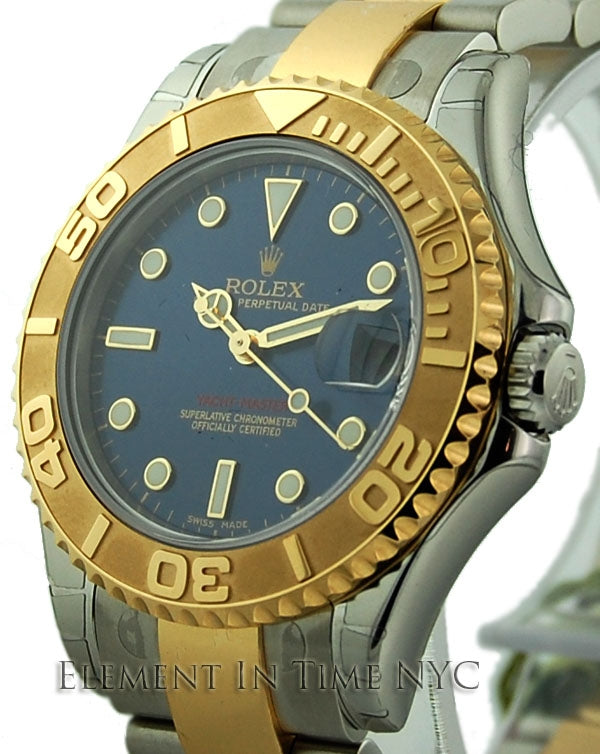 Steel & Gold Blue Dial 35mm