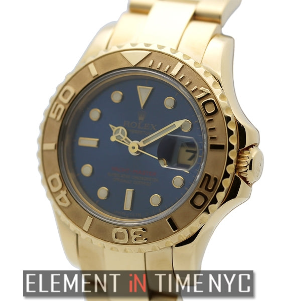 18k Yellow Gold Blue Dial 29mm