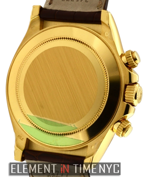 18k Yellow Gold White Dial 40mm
