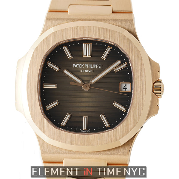 18k Rose Gold Brown Dial 40mm