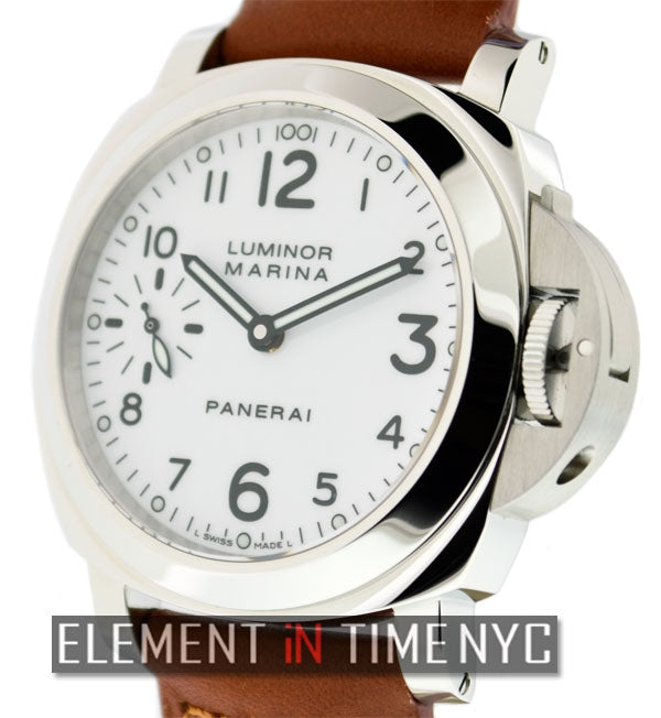 Stainless Steel White Arabic Dial 44mm