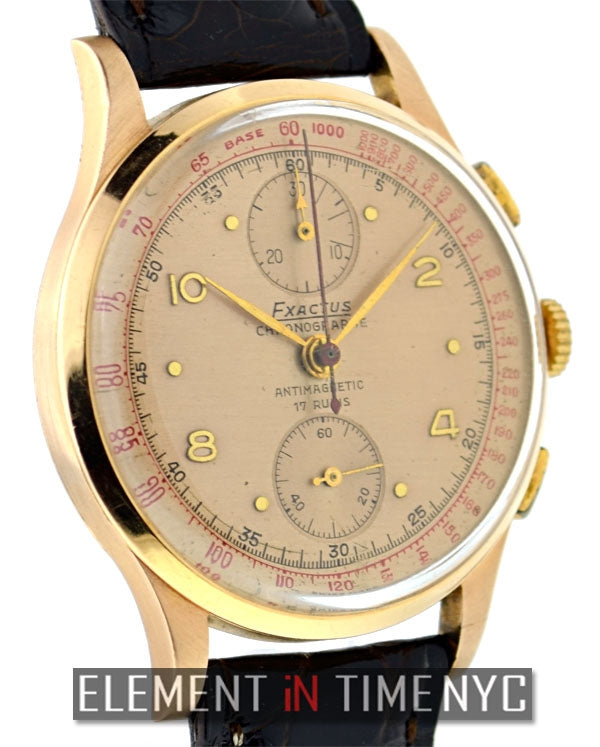 1950's 18k Pink Gold Chronograph 37mm