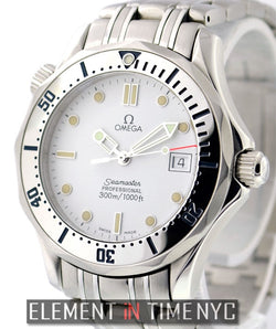 300M Stainless Steel White Dial