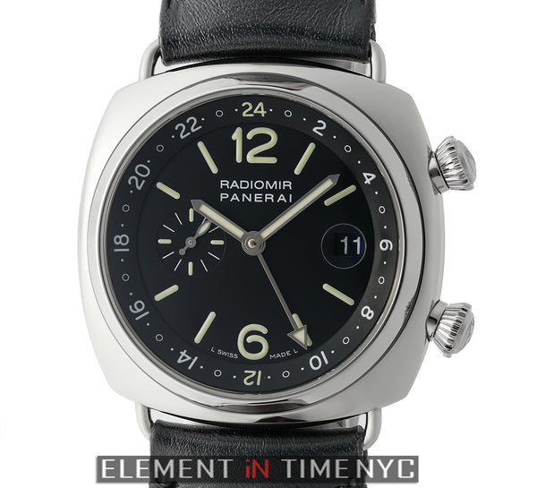 Radiomir GMT Steel Black Dial JLC Based Movement G Series 2004