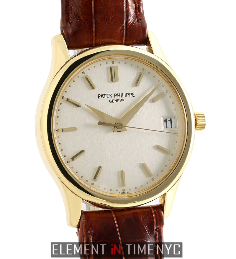 18k Yellow Gold 34mm Silver Index Dial