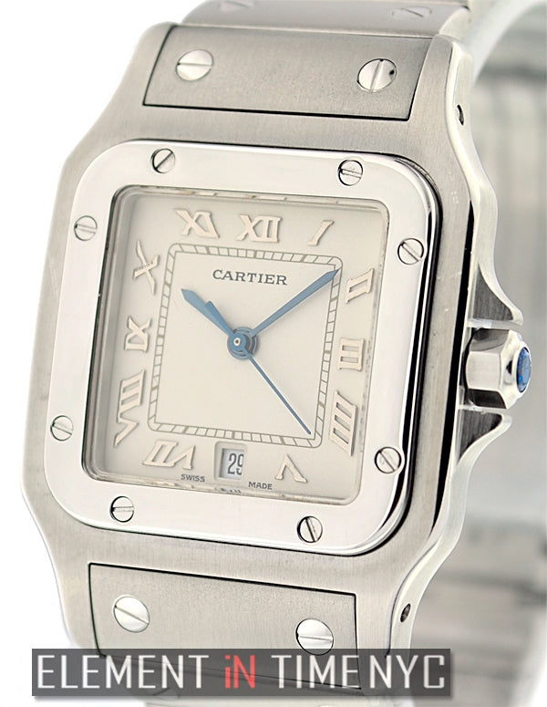 Santos Galbee Stainless Steel 29mm Silver Dial Quartz