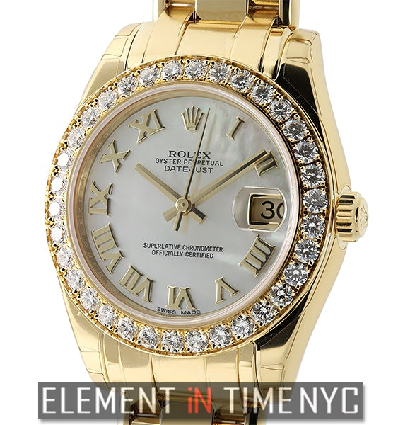 Special Edition 34mm Masterpiece 18k Yellow Gold Diamond Bezel