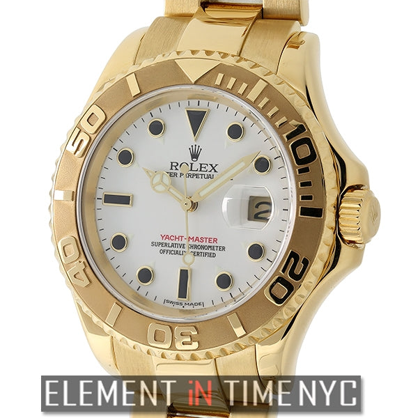 18k Yellow Gold White Ivory Dial 40mm