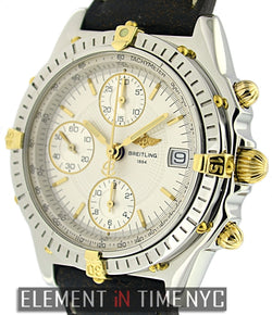Chronograph 2Tone Silver Dial 39mm