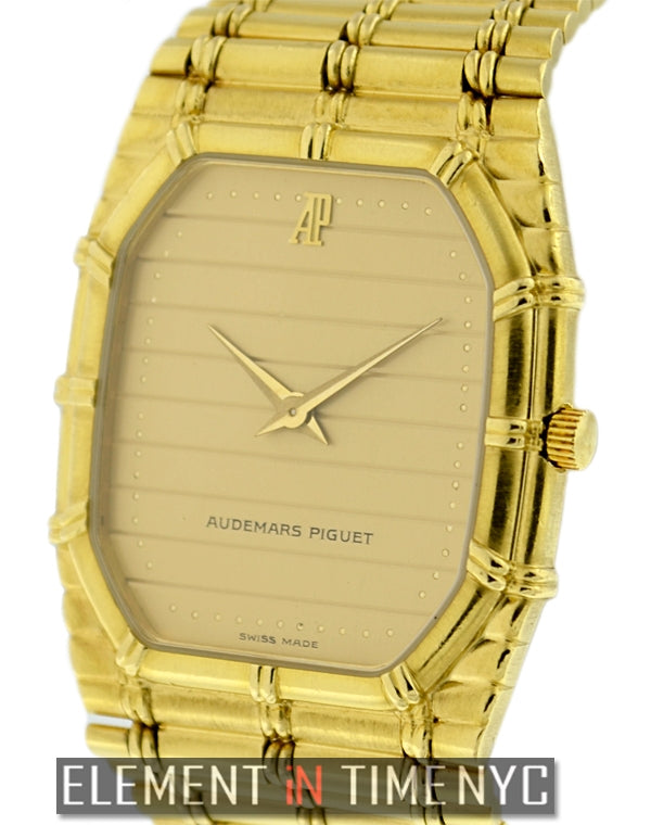 Bamboo Dress Watch 18k Yellow Gold