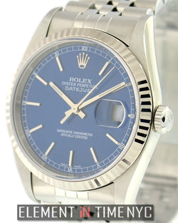 Stainless Steel Blue Stick Dial