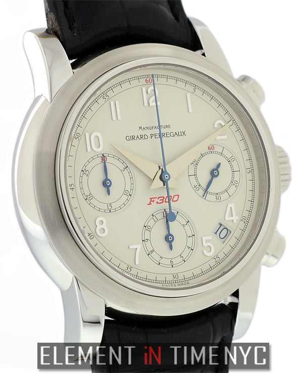 38mm F300 Chronograph White Dial