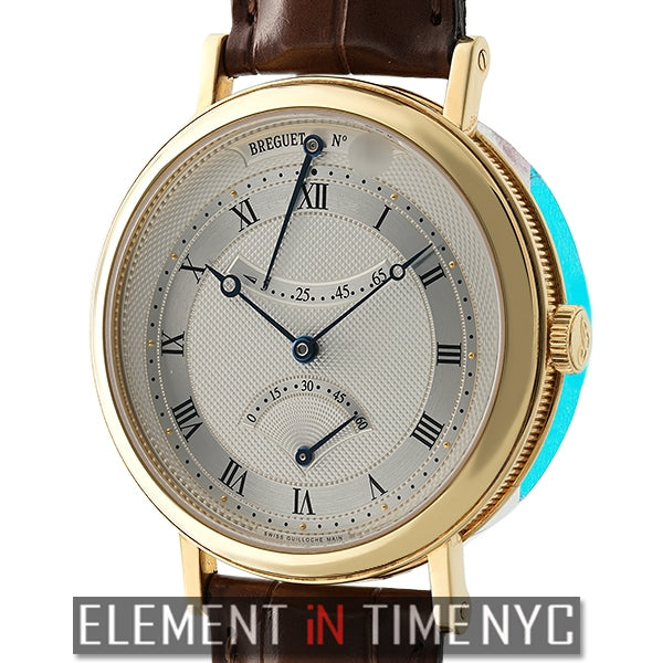 Retrograde Seconds 18k Yellow Gold 39mm Silver Dial