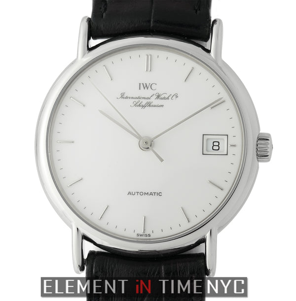 Stainless Steel White Enamel Dial 34mm Automatic