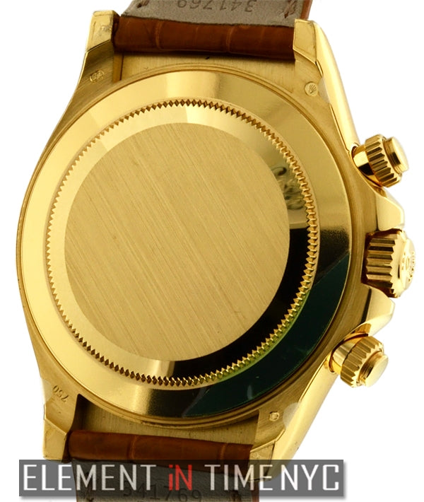 18k Yellow Gold Blue Dial