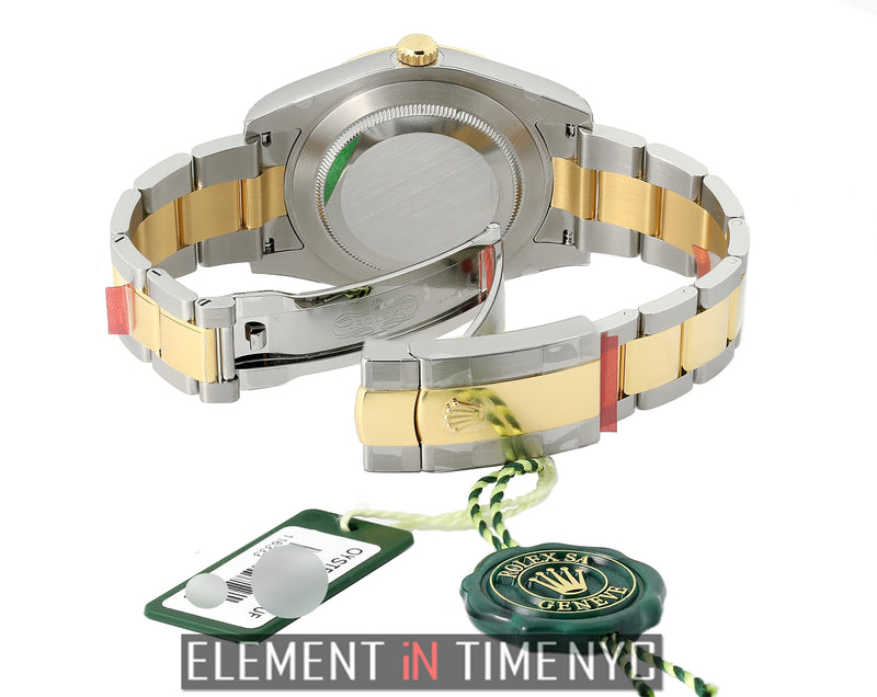 41mm Steel & Yellow Gold Grey Dial Green Numerals