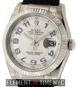 18k White Gold 36mm Silver Dial