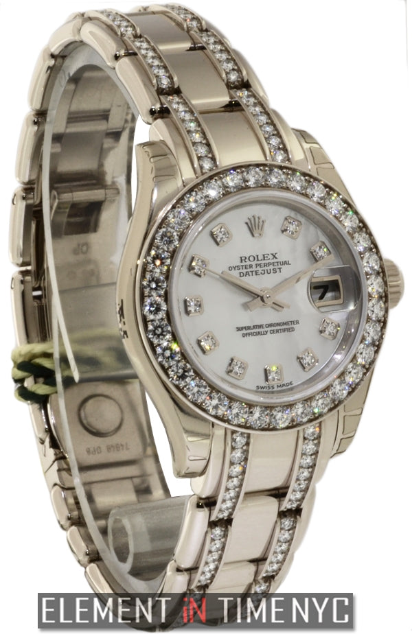 Lady Pearlmaster 18k White Gold Diamonds