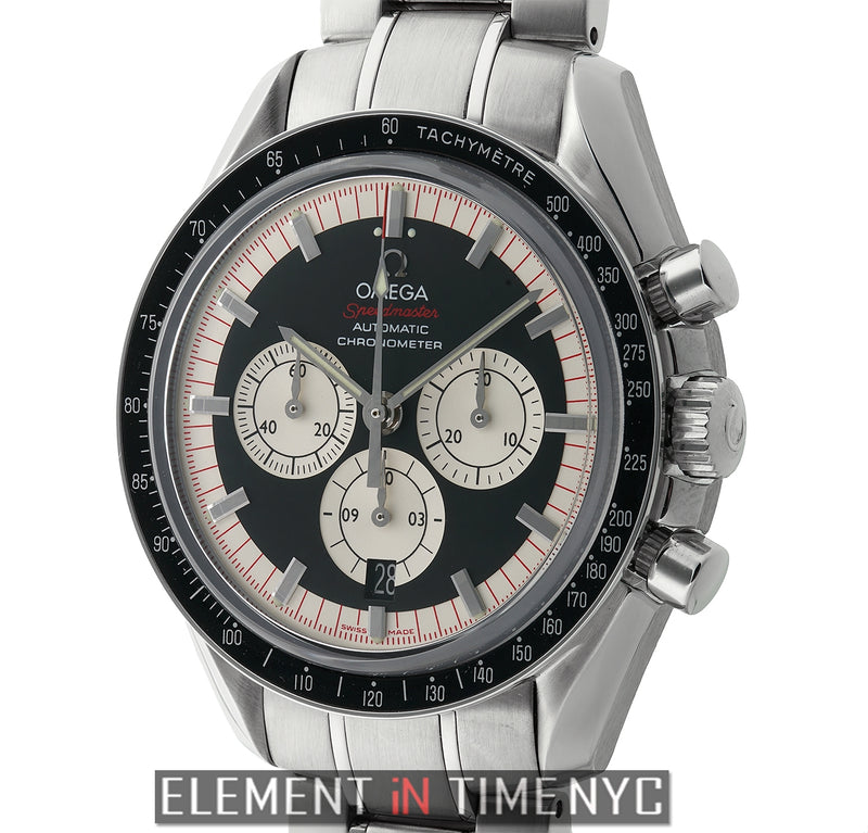 The Legend Schumacher Stainless Steel 42mm Black Dial