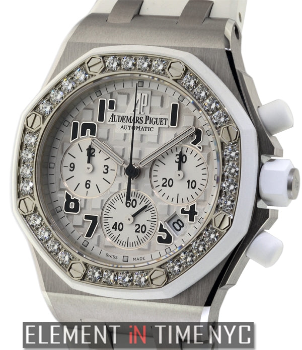 Chronograph Lady Steel White Diamonds