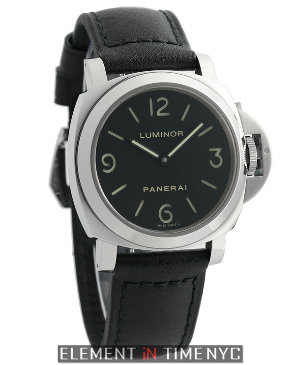 Luminor Base Stainless Steel 44mm Black Sandwich Dial