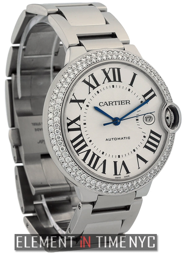 Large 42mm Stainless Steel Diamond Bezel Automatic