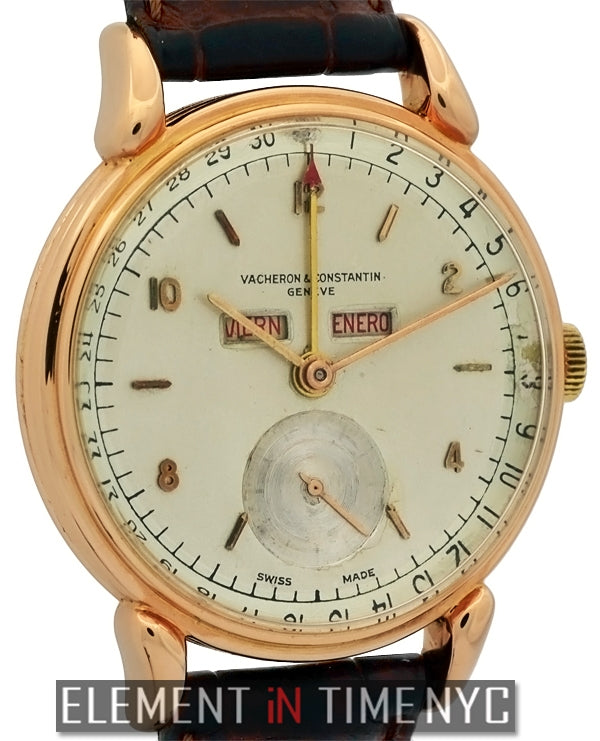1950's Triple Calendar 18k Rose Gold