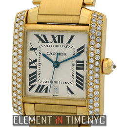 Tank Francaise 18k Yellow Gold Diamond Bezel 28mm