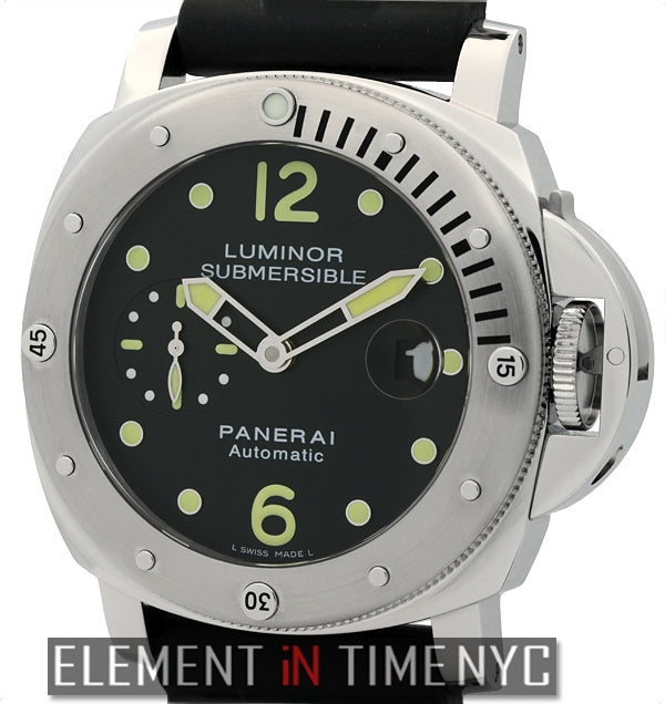 Luminor Submersible Stainless Steel Black Dial 44mm