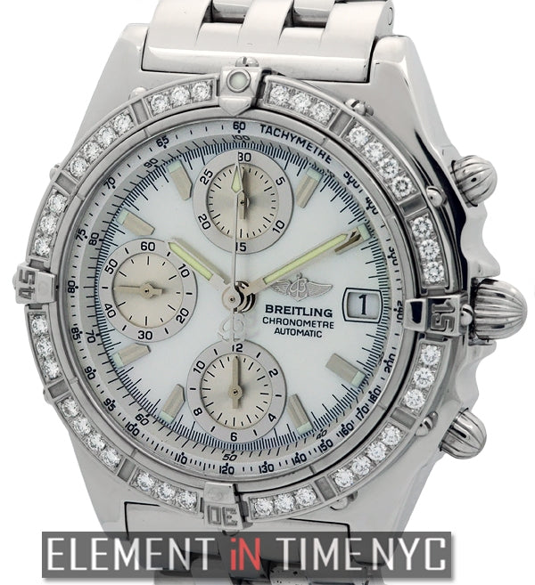 Stainless Steel Factory Diamond Bezel MOP Dial