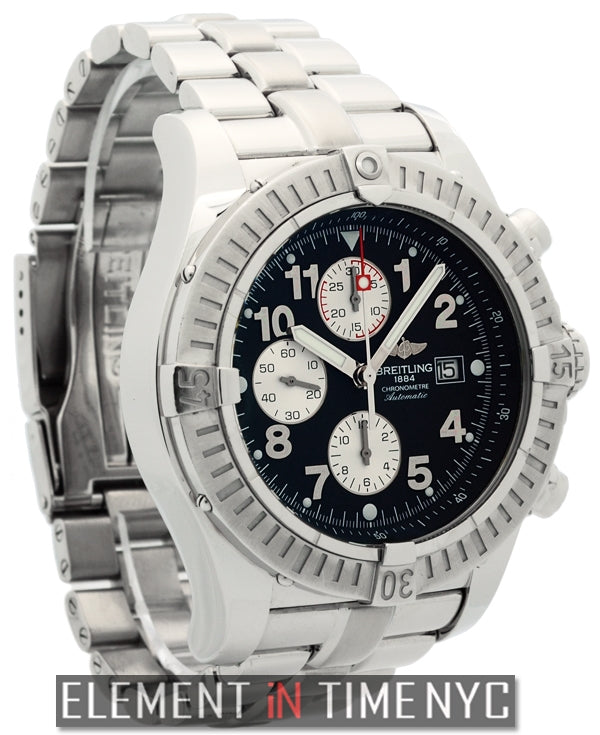 Chronograph Steel 48mm Black Dial