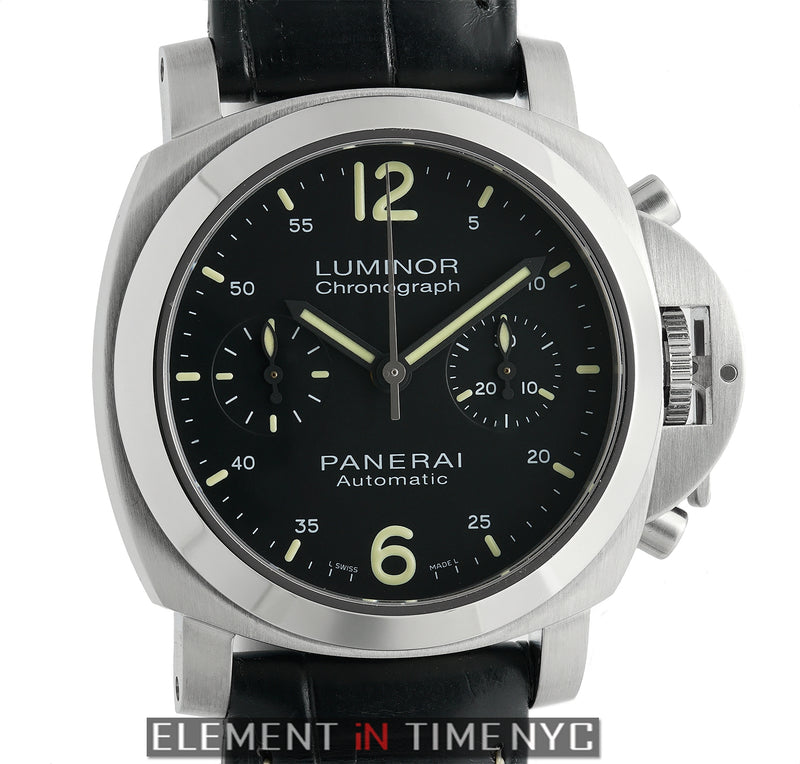 Luminor Chronograph 40mm Stainless Steel Black Dial N Serial 2011