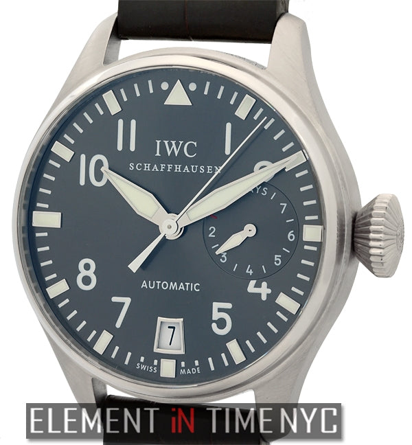 Big Pilot 18k White Gold Grey Arabic Dial
