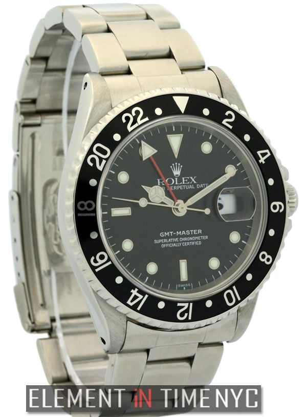 Stainless Steel 40mm Black Dial Circa 1999