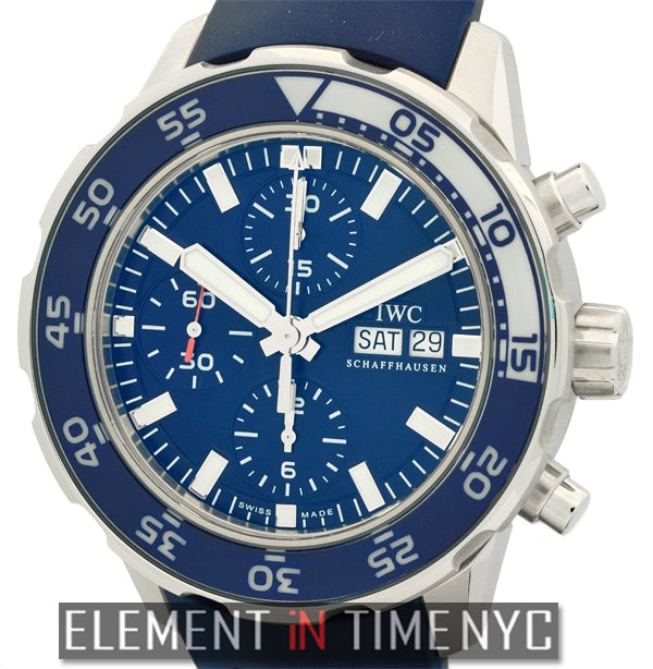 Aquatimer Chronograph Stainless Steel Blue Dial