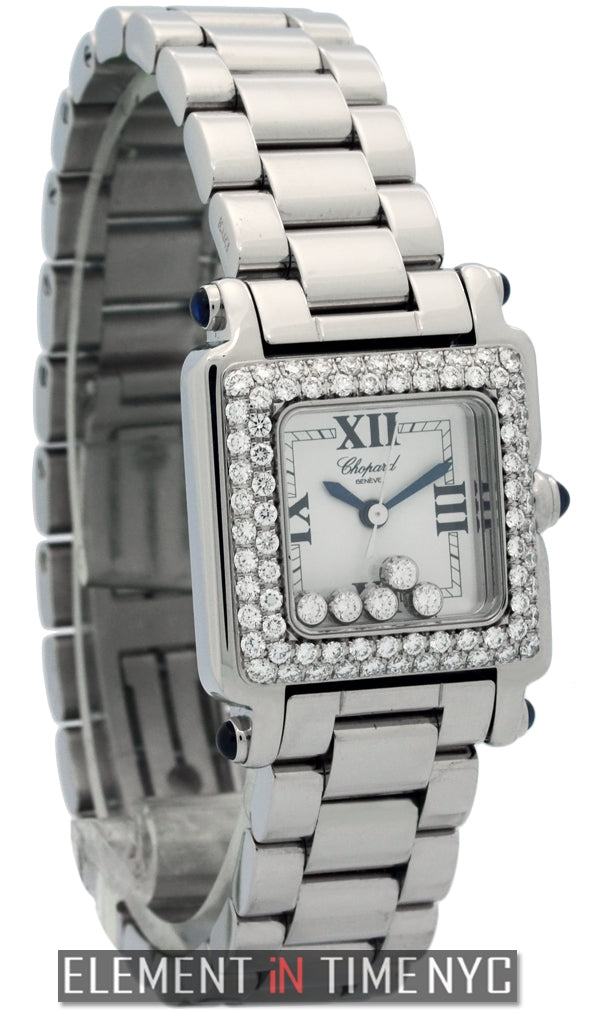 Square 5 Diamonds Steel Custom Diamond Bezel